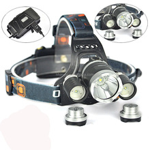 High power t6 30w aluminum rechargeable zoomable 3000 lumen led headlamp for camping