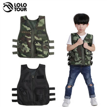 Outdoor Kids Trainning Scouting Hunting Vest Tactical Military Jacket Breathable Camouflage Multi Pocket Tactical Vest