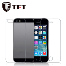 0.33mm 9H high quality clear tempered glass screen protector for iPhone5/5S/SE