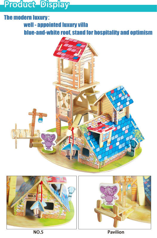 Best selling products in america kid toy Wooden Toys brick house toy with animal