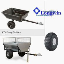 Landscape yard hauler tow trailer, atv trailer timber