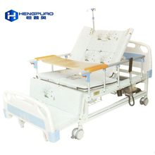 elderly care adjustable electric motor cheap price hospital bed with toilet