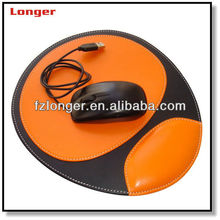Hot sale new arrival fancy custom faux leather game mouse pad