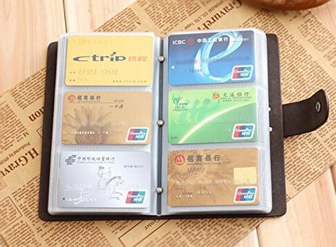 Hot sale top quality leather credit card book business name card holder case
