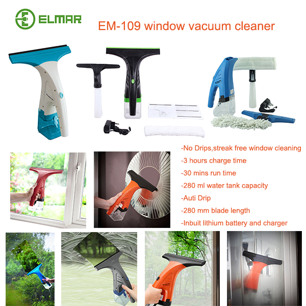 Glass or window vac cleaner rechargeable battery crystal clean view