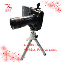 8X Zoom Telescope Mobile Phone Camera Lens Kit + Tripod + Case for iPhone 5