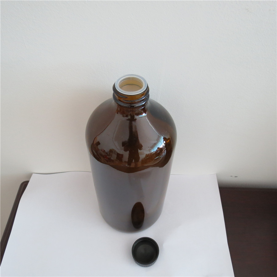 1L brown glass bottle glass jar Reagent bottle