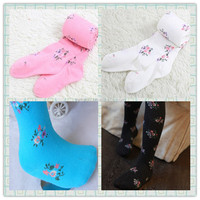 Wholesale fancy new deisgn toddler ruffle pants cheap children tights baby leggings with lace for baby girls