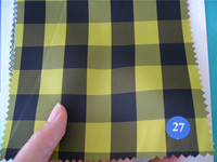 Yellow black middle big check 100%P Sleeve lining