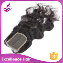 5a top grade real virgin brazilian hair closure,natural part hair closures piece
