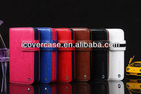 Fashionable iCoverCase Wallet Style Leather Case for iPhone 4 4s