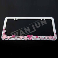 customized number license plate frames,car license plate holder
