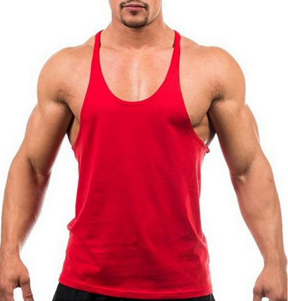 China Shandao Manufacture Casual 160g 100% Cotton Gym Mens Tank Top