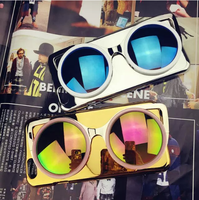Hot sale Mirror Case 3D Sunglasses hard PC Plastic Case For iPhone 6 Fashion design phone cases