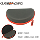 Eyeglasses boxes PU leather surface waterproof EVA sunglass cases with foam