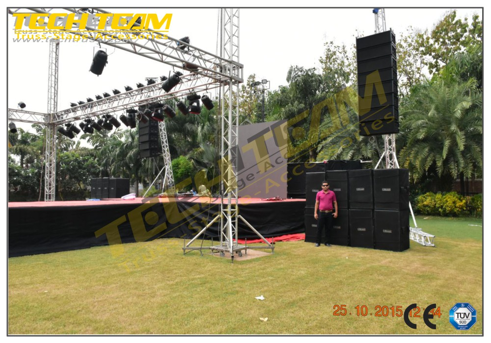 Hot Sale Square Spigot Aluminum Line Array Speaker Truss