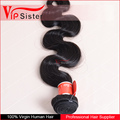 Vipsister Body Wave 100% Human Pure Hair 100grams brazilian hair unprocessed