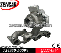 GT1749V turbocharger for Audi A3 with BKD Engine 724930-5008S