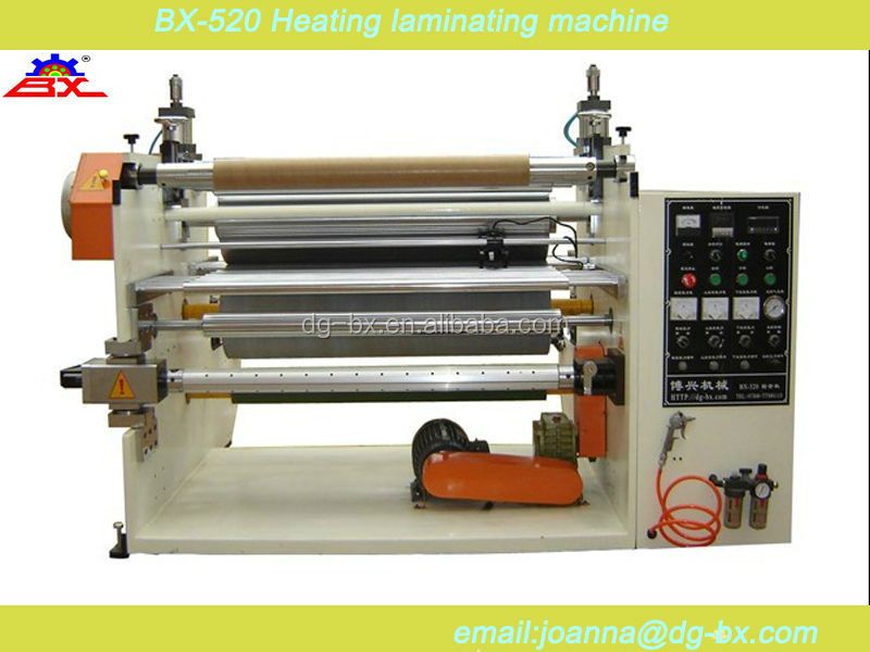 BX-520 Heating laminating machine for double side tape/adhesive sticker/adhesive tape with release paper