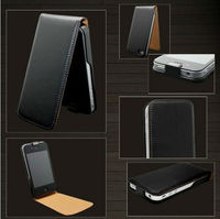 Laudtec High Quality Leather Flip Skin Case Cover For iphone 4 4G 4S Free Shipping