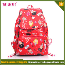 2016 cute waterproof kids cartoon printing school bags for boys and girls