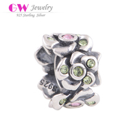 charms and pendants jewellery making supplies flower shaped beads S925