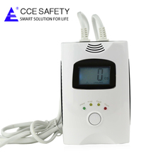 New intelligent home gsm combustible gas leak alarm detector with shut-off valve