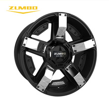 "Zumbo-S0039 Semi Matte Black+Chrome Insert Cheap alloy wheel rim for sale forged mag 17"" 18"" replica Alloy wheels"