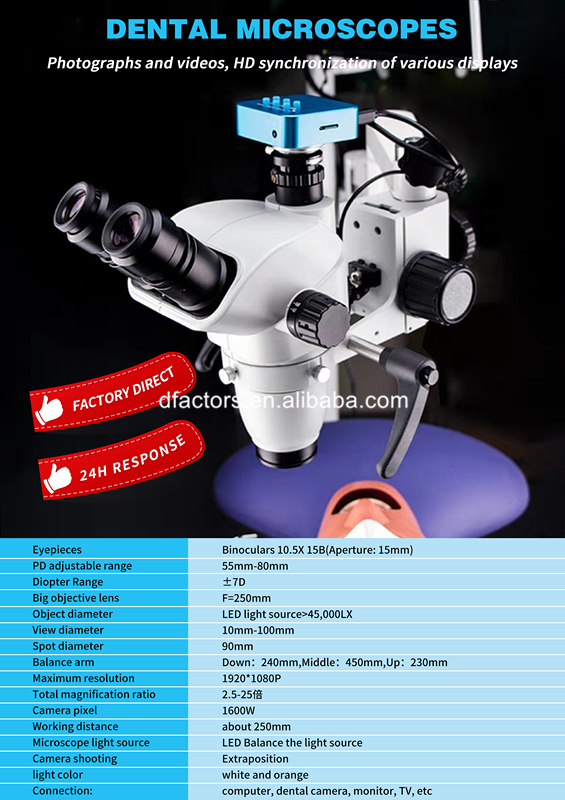 Portable Dental Chair Microscope with Camera Root Canal Operation Microscope - Dental Surgical Microscope