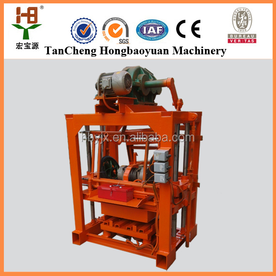 Small multifunction concrete paving block QTJ4-40 hollow maker/stone brick laying machine for sale