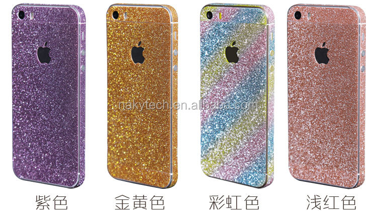 colorful phone sticker glitter skin for iphone 5
