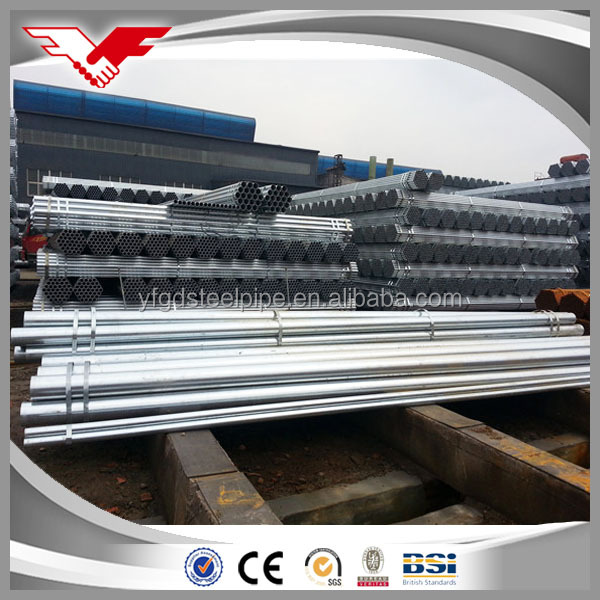 Construction material ASTM A53 schedule 40 galvanized steel pipe,GI steel tubes Zn coating 60-400g