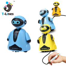 Manufacturer wholesale plastic tobot toys kids drawing robot toy for children