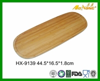 Wholesale Wood Bamboo Tea And Coffee Food Tray Long Bread Serving Tray