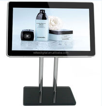 10 Inch Ipad Style Mall Hotel Counter Stand In Store Video Advertising