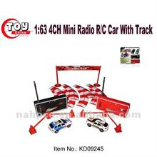 2 In 1 Set 1:63 4CH Mini Radio R/C Car With Track-4 Asst.