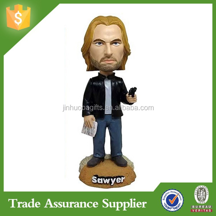 Souvenir Gift Europe Style Resin Crafts Custom Bobble Head Figure