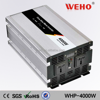 Single output dc 12v 24v to ac 220v 4000w pure sine wave power inverter