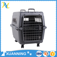 customized pet air cage house plastic dog house large dog carrier flight dog flight cage
