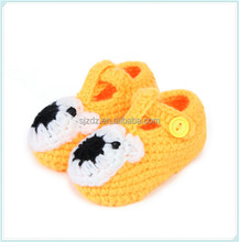 Newborn Bear Toddler Baby Boys Girls Crochet Knit Crib Shoes 0-12 Months
