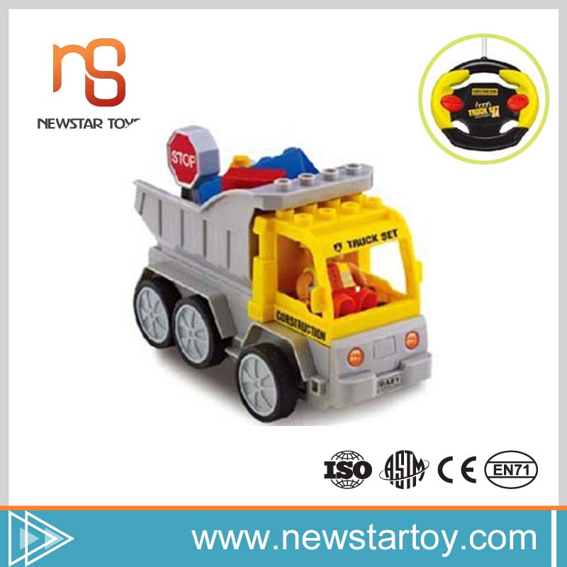 2016 Guangdong best quality education truck assemble toy for kids