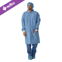 Disposable SMMS Anti-static Non-woven Lab Coats