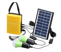 Neata 2015 3W solar power system to generate electricity for home with 2 light