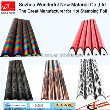 Wonderful color hot stamping foil for textile fabric leather