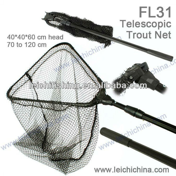 Aluminium frame telescopic trout lightweight carp fishing landing nets