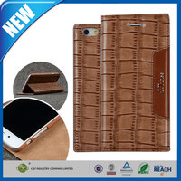 C&T Luxury Genuine Flip Magnetic Leather Wallet Case For Iphone 6 plus