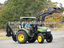 55HP 4WD Tractor with Front end loader and Backhoe