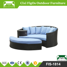 2 PC Outdoor Garden Patio Rattan Wicker Daybed Sectional Set with Canopy