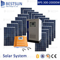 BESTSUN 20000W Factory price 5KW full power solar panel/inverter/controller/battery complete set off grid home solar system