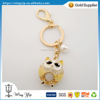 Custom made fancy Animals Owl electroplate 3D Keychain